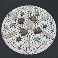 Crystal grid with extra stones - square.