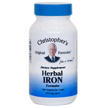 Dr. Christopher's Herbal Iron Formula - 100 capsules