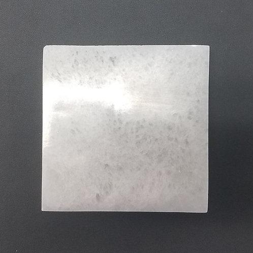 "Selenite Medium Square Charging Plate - 4"""
