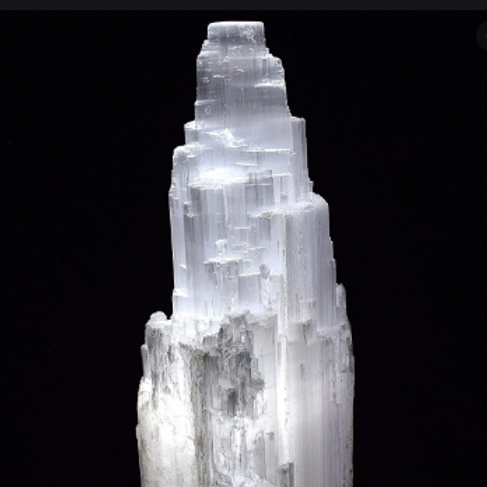 Selenite Skyscraper Lamp - 8""