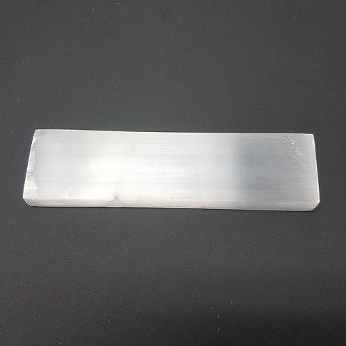 """Selenite Medium Ruler Charging Plate - 6"""""""