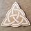 "Thumbnail: Crystal Grid Base - Celtic Triquetra Knot - Wood - 8"""