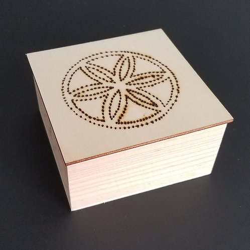 Prayer Box - Seed of Life Removable Lid - 3.75""