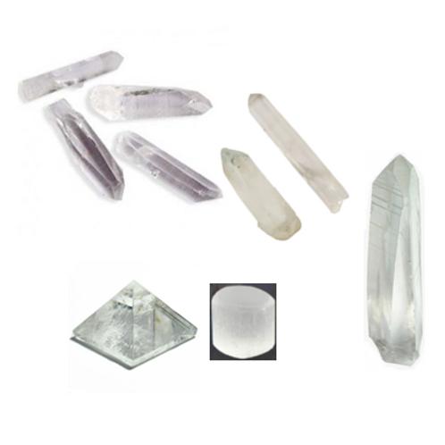 Central Grid Crystals Pack (quartz & selenite)