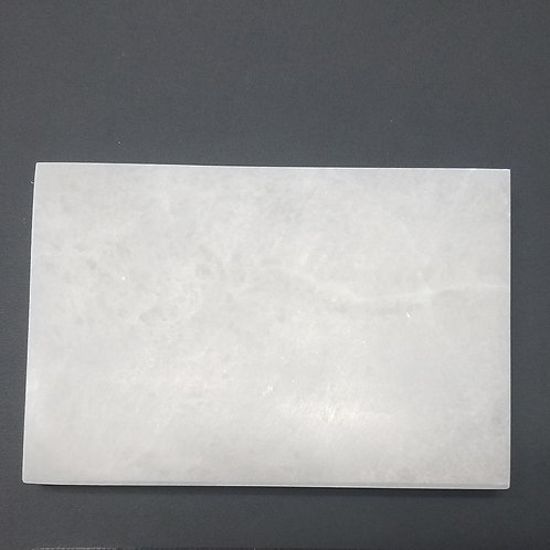 "Selenite Large Rectangle Charging Plate - 4"" x 5.75"""