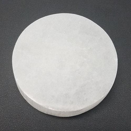 "Selenite Small Round Charging Plate - 2.5"""