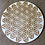 "Thumbnail: Crystal Grid Base - Flower of Life Inverted - Wood - 4"""