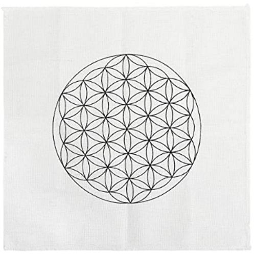 "Crystal Grid Base - Flower of Life - Cloth - 8"""