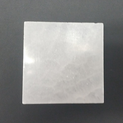 Selenite Small Square Charging Plate - 2.5""