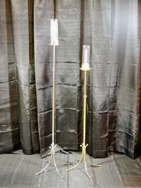 Aisle Candelabra Silver- Free Standing