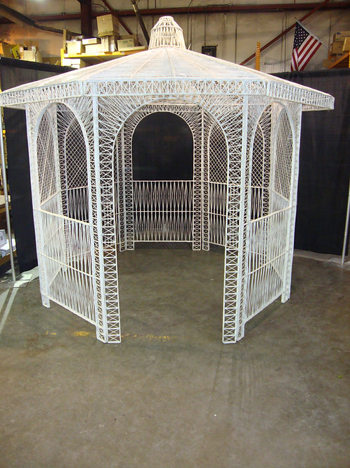 Gazebo- White Wicker