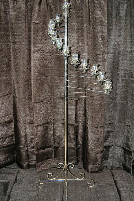 Spiral Silver Candelabra