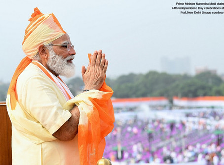 PM Modi addresses the nation from the majestic Red Fort