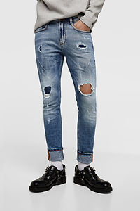 zara RIPPED JEANS WITH DARTS.jpg