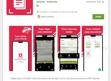 Swadeshi app 'Kaagaz Scanner' - An alternative to CamScanner