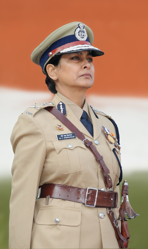 Meeran Borwankar, Indian Police Service (IPS) Officer in uniform at Republic Day Parade