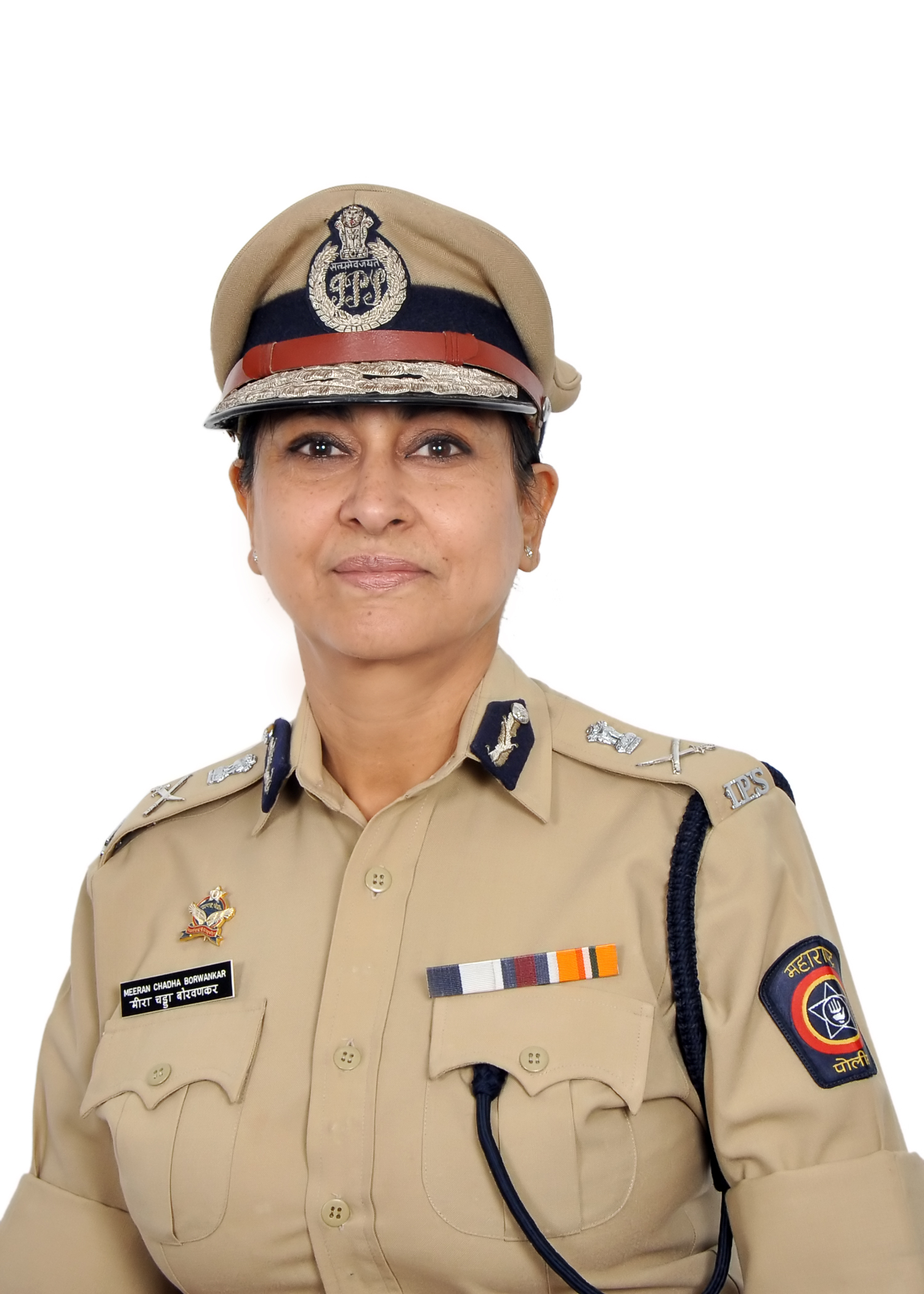 Meeran Borwankar, Indian Police Service (IPS) Officer in uniform