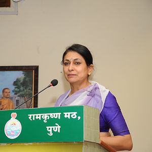 Meeran Borwankar, Indian Police Service (IPS) Officer & Public Speaker at Ramkrushna Math, Pune