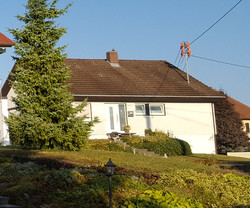 Dach vor Dachbeschichtung