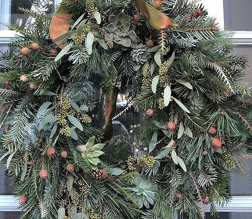 I always enjoy making Christmas Wreaths.