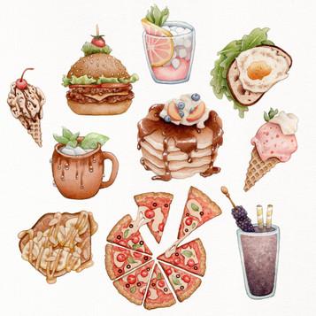 Food Spot Illustration