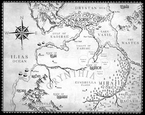 House of Bastiion Novel Map