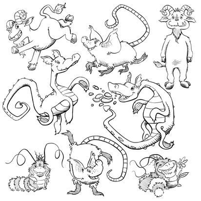 Pre-school classroom character design