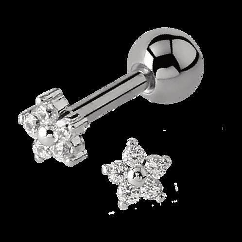 Multi Crystal Steel Claw Labret