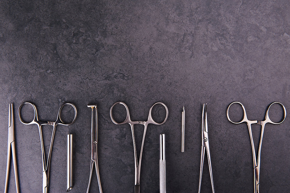 A group of surgical stainless steel body