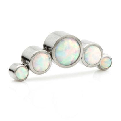 Titanium 5 White Opal Cluster