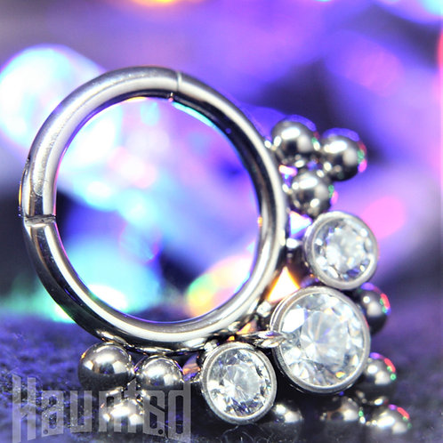 Crystal Tri Hinged Ring