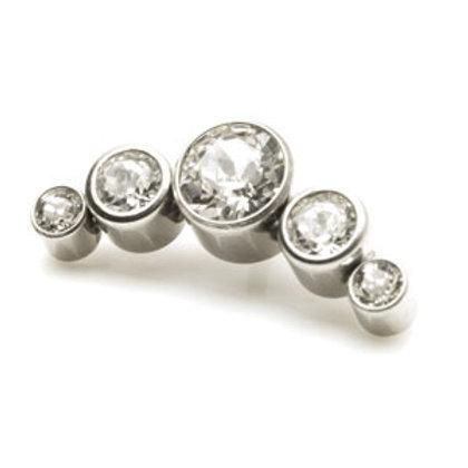 Titanium 5 Crystal Cluster