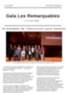 Article Gala Les Remarquables - Fondation de l'Université Laval