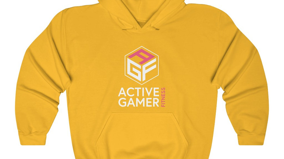 AGF Front Print (white Letters)  Hooded Sweatshirt