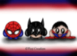 marvel heros spiderman batman supeman