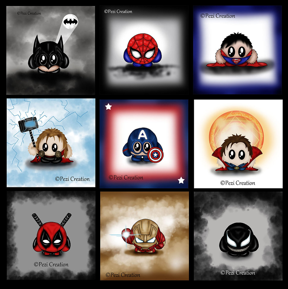 marvel faart venom spidermn batma thor dr.strange superman captain america deadpool