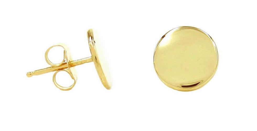 Ohrstecker Freya 925 Sterling Silber vergoldet - Gravur