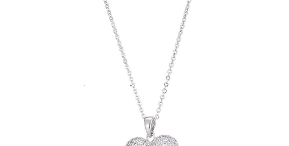 Kette Liv 925 Sterling Silber Swarovski Herz