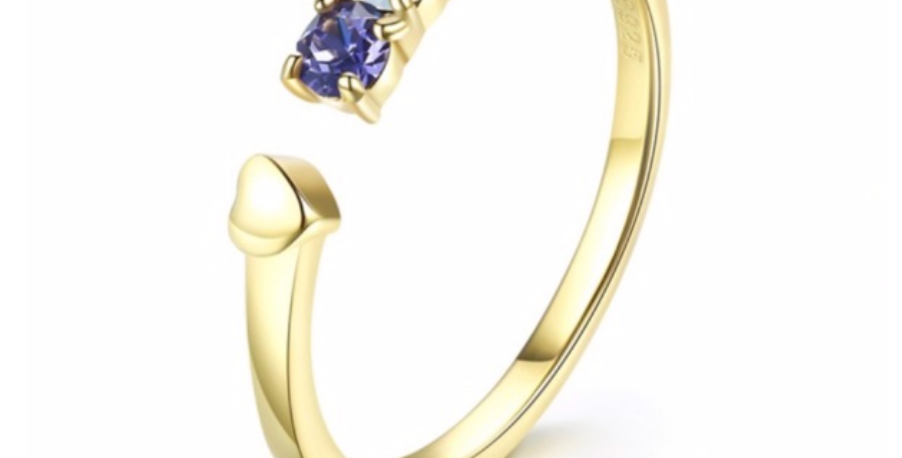 Ring Karla 925 Sterling Silber vergoldet Swarovski