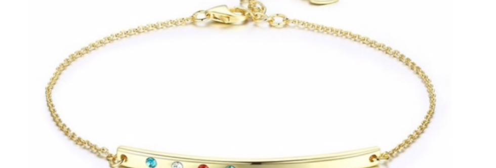 Armband Agneta 925 Sterling Silber vergoldet Swarovski