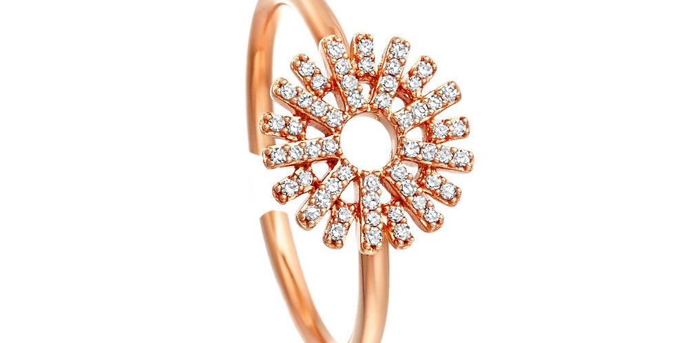 Ring Sunny 925 Sterling Silber rosévergoldet Zirkonia
