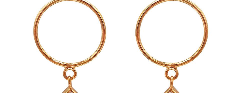 Ohrhänger Insa 925 Sterling Silber rosévergoldet Zirkonia