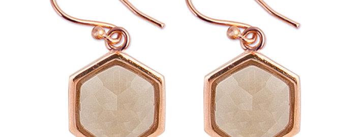 Ohrhänger Felicia 925 Sterling Silber rosévergoldet Zirkonia