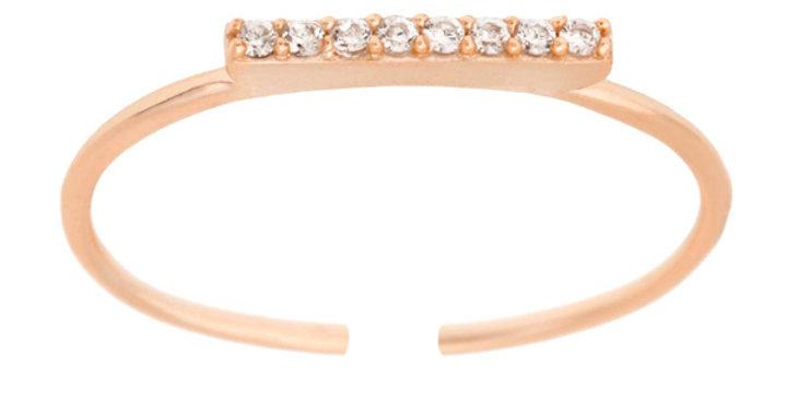 Ring Frieda 925 Sterling Silber rosévergoldet Zirkonia