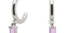 Ohrhänger Claire Rosa 925 Sterling Silber Zirkonia