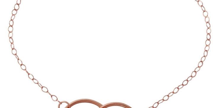 Armband Ella 925 Sterling Silber rosévergoldet