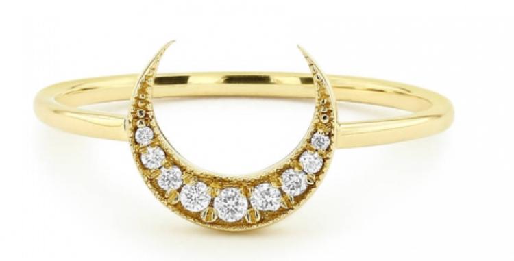 Ring Mahina 925 Sterling Silber vergoldet Zirkonia