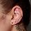 Thumbnail: Ohrstecker Anika 925 Sterling Silber vergoldet