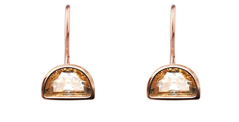 Ohrhänger Ida 925 Sterling Silber rosévergoldet Zirkonia