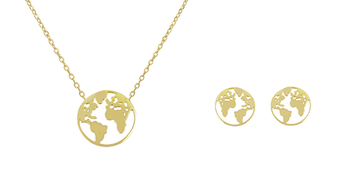 Geschenkset Elenor 925 Sterling Silber vergoldet